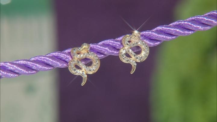 10k Yellow Gold Snake Earrings