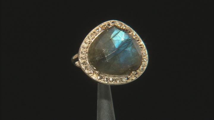 Gray Labradorite 10k Yellow Gold Ring