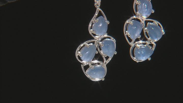 Blue Kyanite Sterling Silver Dangle Earrings