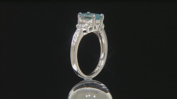 Blue Zircon Sterling Silver Ring 2.52ctw