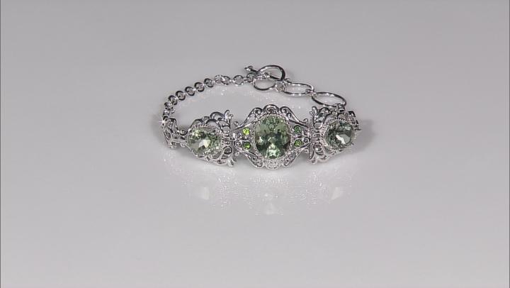 Green Prasiolite Sterling Silver Bracelet 11.86ctw