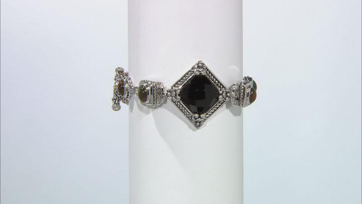 Black Onyx Sterling Silver Bracelet 1.80ctw