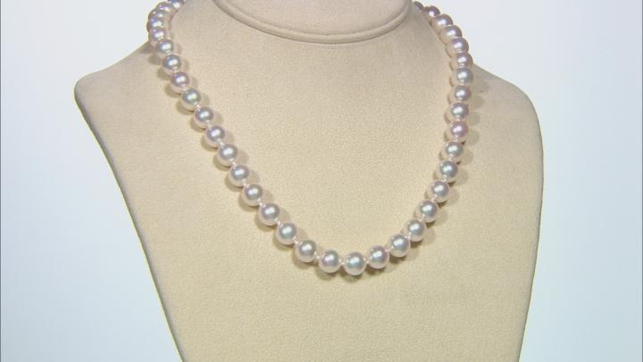 Hanadama Cultured Japanese Akoya Pearl 14k Yellow Gold Necklace 9-9.5mm