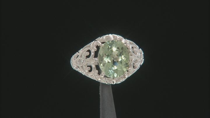 Green Prasiolite Sterling Silver Ring 3.63ct