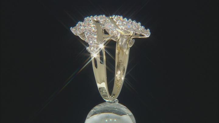 Diamond 10k Yellow Gold Cluster Ring 2.00ctw