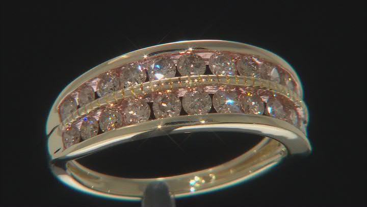 Champagne Diamond 14k Yellow Gold Ring 1.00ctw