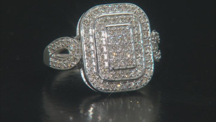 White Diamond 10k White Gold Ring .63ctw