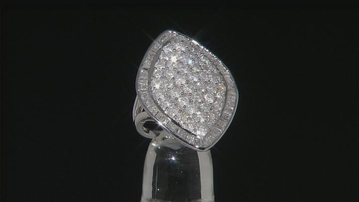 White Diamond 10k White Gold Ring 4.00ctw