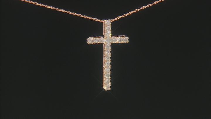 White Diamond 10k Rose Gold Pendant .50ctw