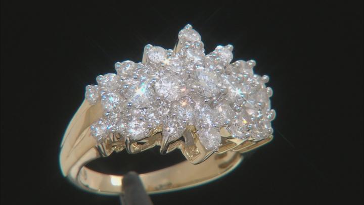 White Diamond 10k Yellow Gold 2.04ctw
