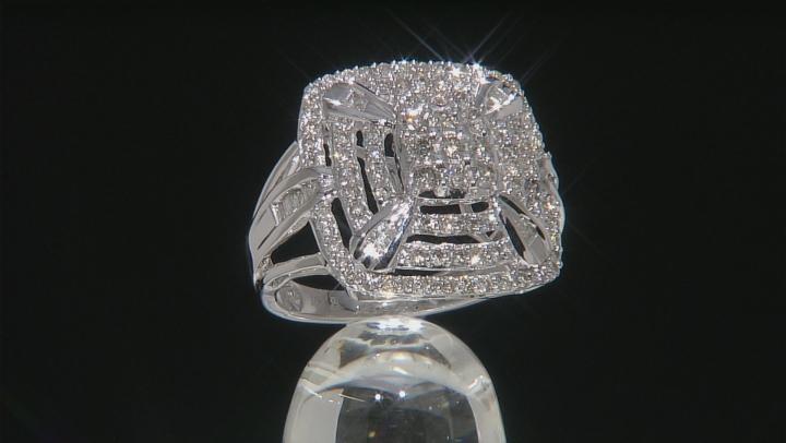 White Diamond 10k White Gold Ring 1.00ctw