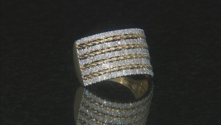 White Diamond 10k Yellow Gold Ring 1.03ctw