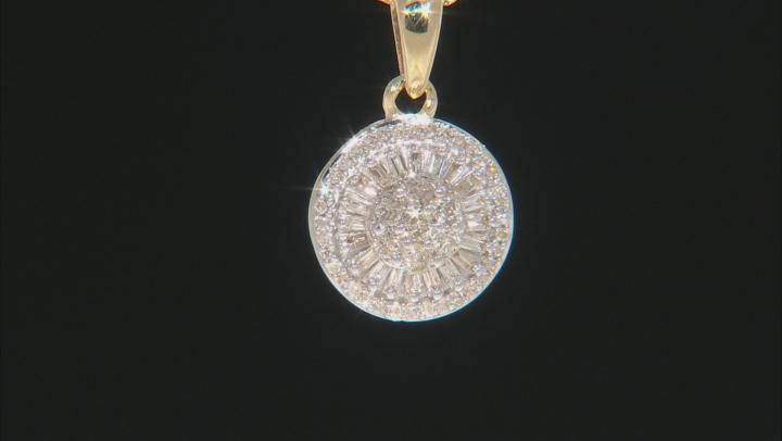 White Diamond 10k Yellow Gold Pendant .25ctw
