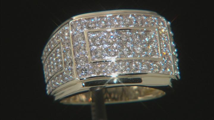 White Diamond 10k Yellow Gold Getns Ring 2.00ctw