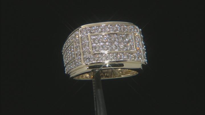 White Diamond 10k Yellow Gold Mens Ring 2.00ctw