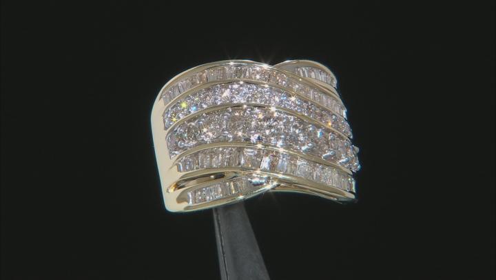 White Diamond 10k Yellow Gold Ring 1.80ctw