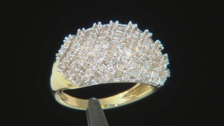White Diamond 10k Yellow Gold Ring 1.27ctw