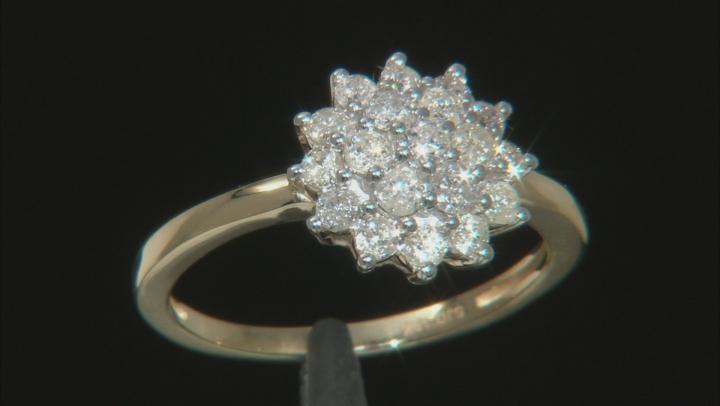 White Diamond 10k Yellow Gold Ring .75ctw