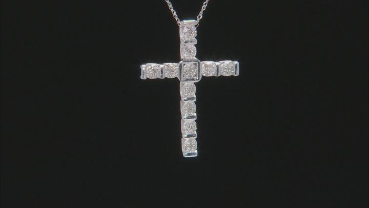White Diamond 10k White Gold Pendant .25ctw