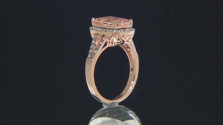 Pink Morganite 10k Rose Gold Ring 1.45ctw