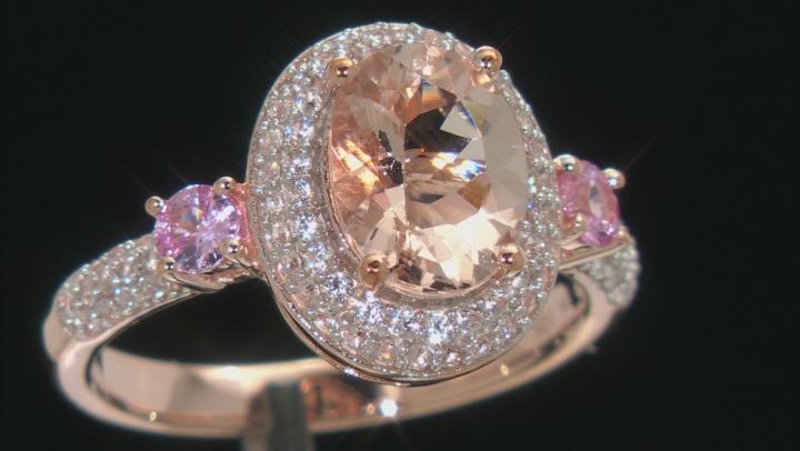 Pink Morganite 10k Rose Gold Ring 1.98ctw