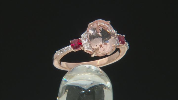 Pink Cor-De-Rosa Morganite™ 10k Rose Gold Ring 2.61ctw