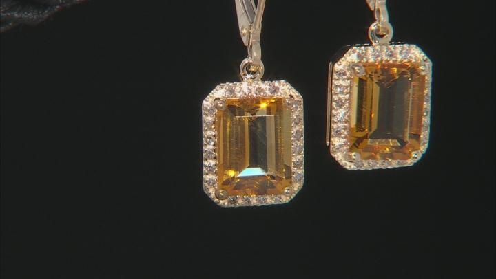 Golden Citrine 10k Yellow Gold Earrings 2.75ctw