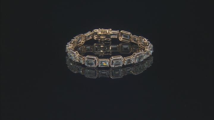 Blue Aquamarine 10k Yellow Gold Bracelet 14.45ctw