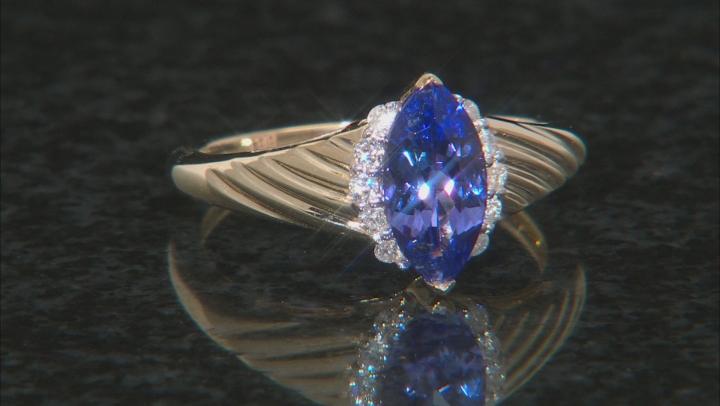 Blue Tanzanite 14k Yellow Gold Ring .99ctw