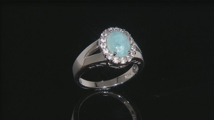 Blue Hemimorphite Sterling Silver Ring 2.37ctw