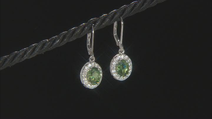 Green Apatite Sterling Silver Earrings 2.33ctw
