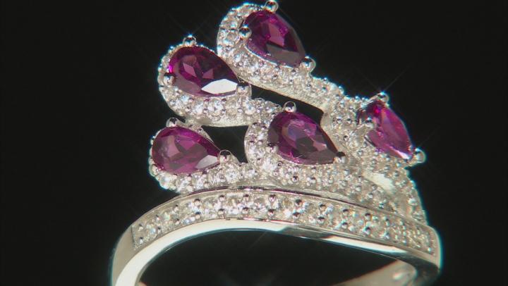 Purple Raspberry Rhodolite Sterling Silver Ring 1.84ctw