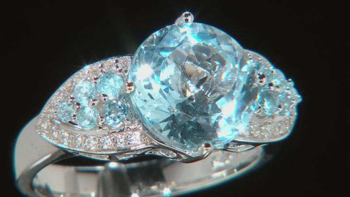 Sky Blue Topaz Sterling Silver Ring 4.30ctw