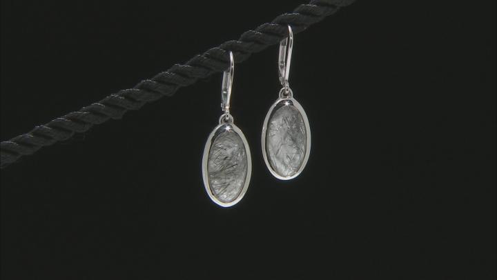 Brown Brazilian Tourmalinated Quartz Sterling Silver Dangle Earrings 8.09ctw