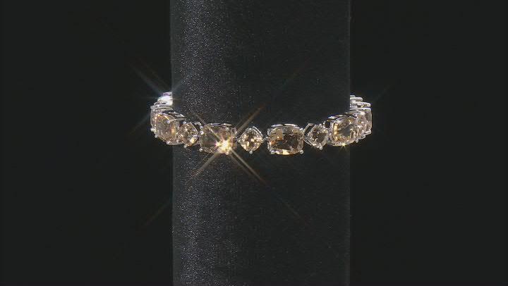 Champagne Quartz Sterling Silver Bracelet 46.60ctw