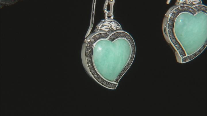 Blue Amazonite Sterling Silver Earrings