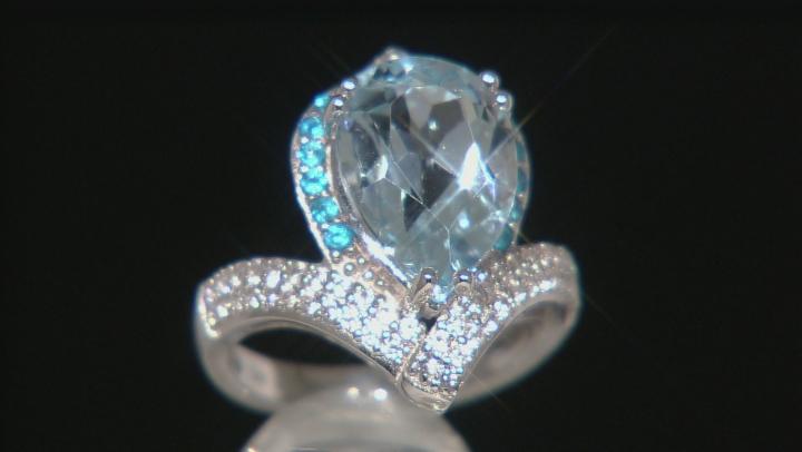 Sky Blue Topaz Sterling Silver Ring 5.66ctw