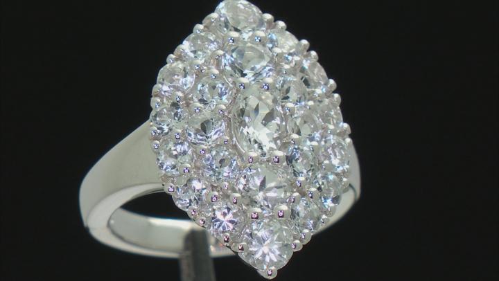 White Goshenite Sterling Silver Ring 3.10ctw