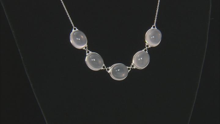 Pink Rose Quartz Sterling Silver Necklace