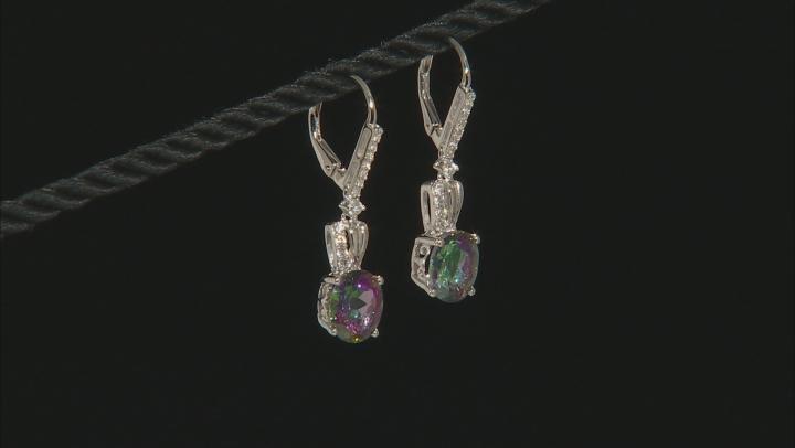 Multicolor Topaz Sterling Silver Earrings 6.11ctw