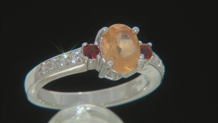 Golden Hessonite Sterling Silver Ring 1.71ctw