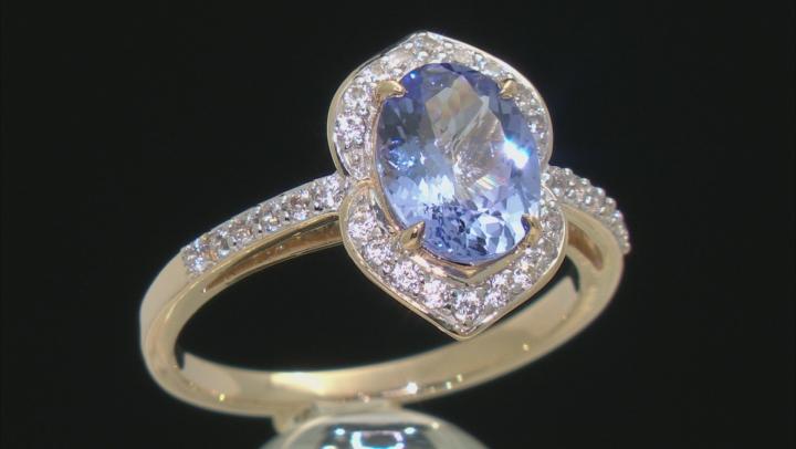 Blue Tanzanite 10k Yellow Gold Ring 1.71ctw
