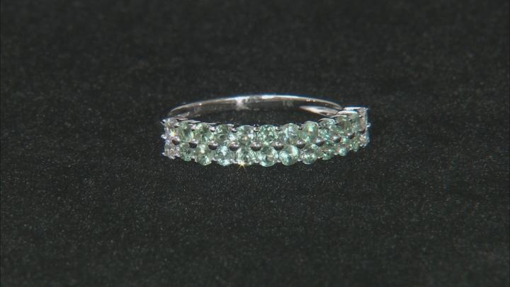 Green Chrysoberyl 14k White Gold Ring .83ctw