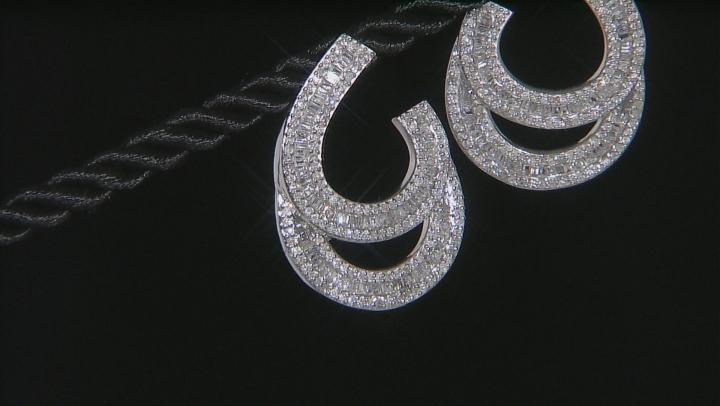 White Diamond 10k White Gold Earrings 1.75ctw