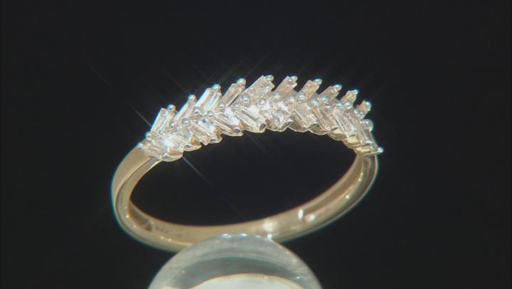 White Diamond 10k Yellow Gold Ring .30ctw