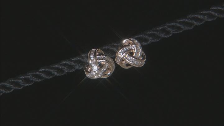 White Diamond 10K Yellow Gold Earrings 0.50ctw