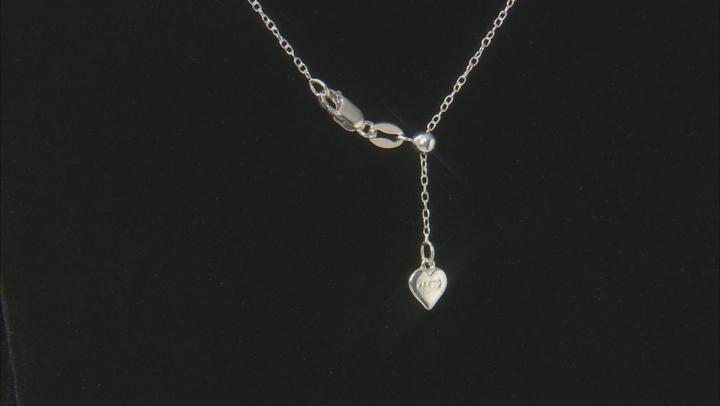 White Diamond Rhodium over Sterling Silver Pendant .45ctw