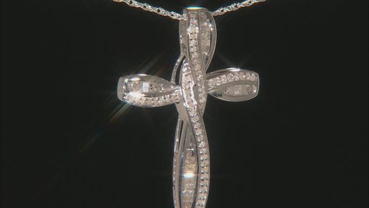 White Diamond Rhodium over Sterling Silver Pendant .55ctw