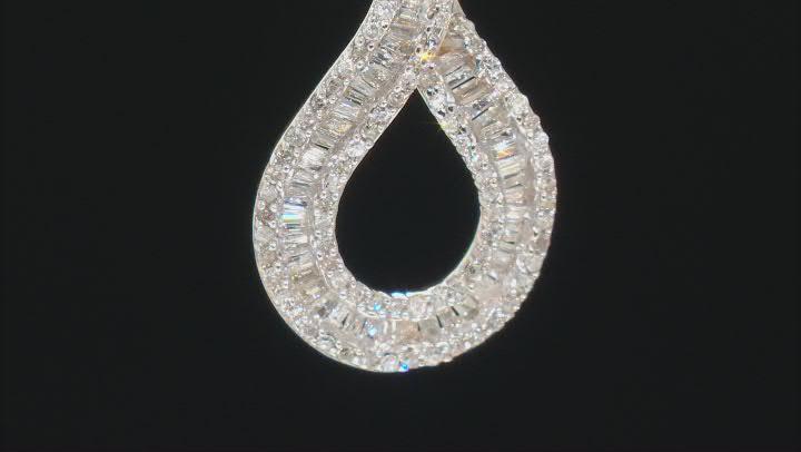 "White Diamond 10k Yellow Gold Pendant With 18"" Rope Chain 0.50ctw"