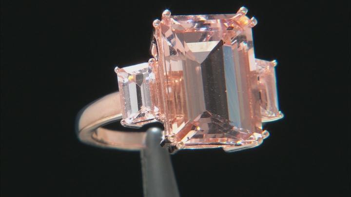 Pink Morganite 10k Rose Gold Ring 7.06ctw